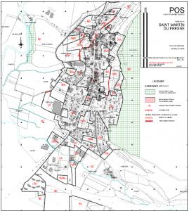 plan de zonage St Martin du Fresne
