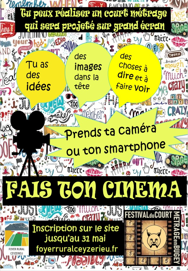 Festival Court Métrage en Bugey- Fais ton cinéma