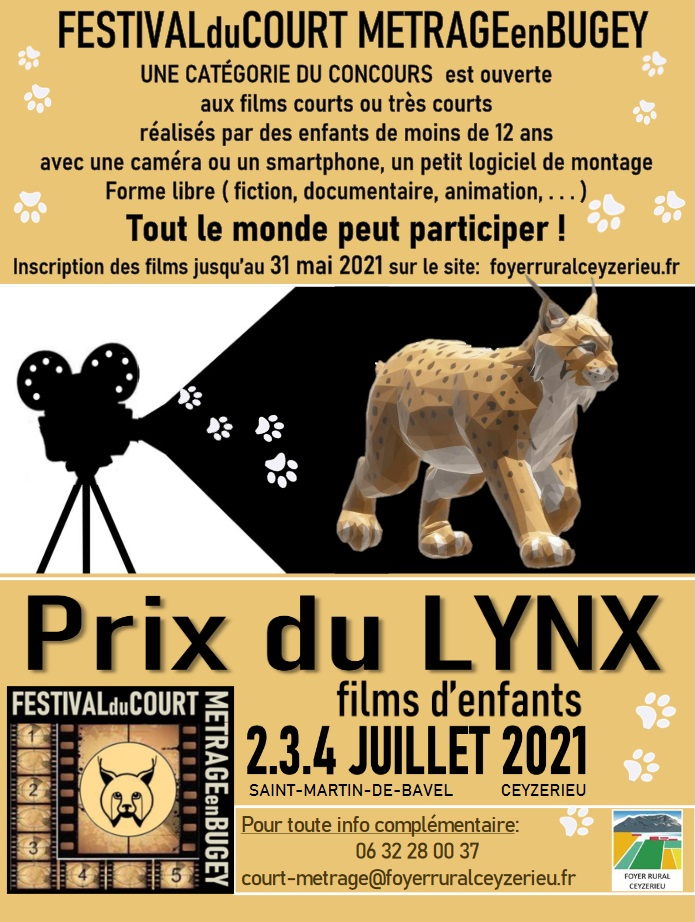 Festival du Court Metrage en Bugey-Prix du Lynx