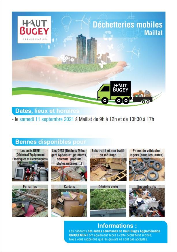 Décheterie mobile : 11 sept à Maillat