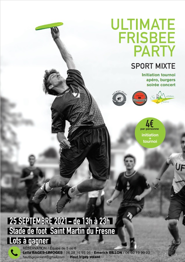 Osez l'Ultimate Frisbee Party !