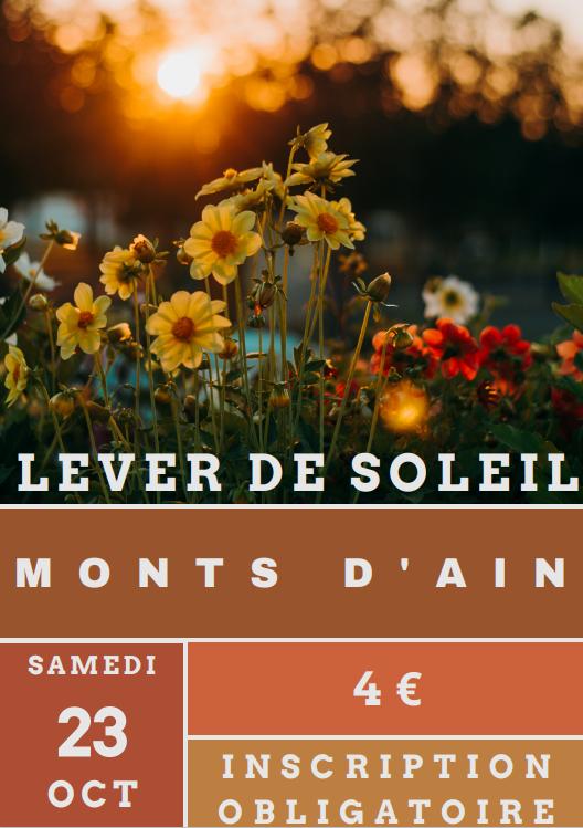 23 octobre : Lever de Soleil des Monts d'Ain